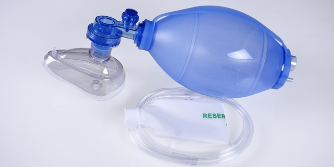 Silicone Resuscitation Bag For Adults ChildrenBlue