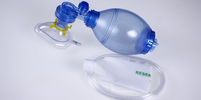 Resuscitation Bag, PVC Resuscitator, TW8321, Blue