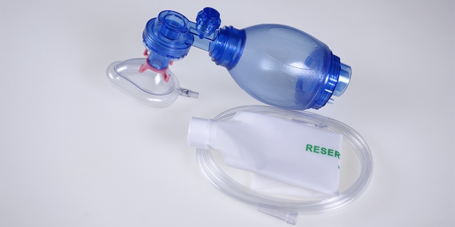 Resuscitator PVC Resuscitation Bag, TW8331, Blue