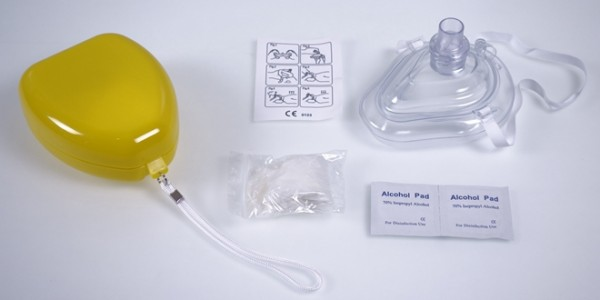 CPR Pocket Resuscitator in Yellow Box